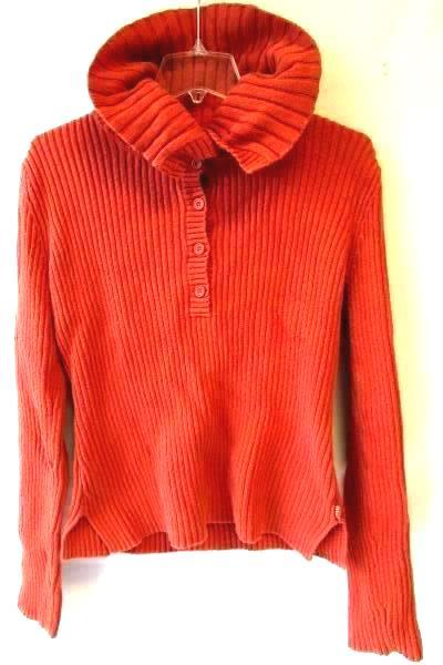 Women's Orange Long Sleeve Turtleneck By American Eagle Outfitters Size L