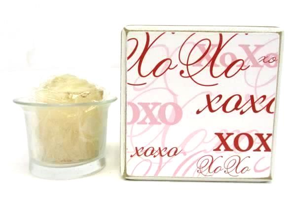 Set of 6 Boxed Wood Sweetnotes & XOXO Candle & Holder Love Hearts Decor