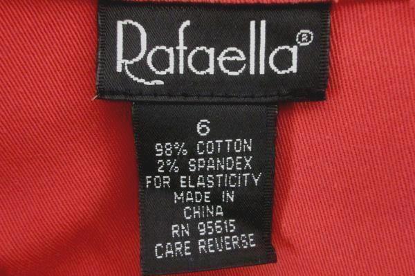Rafaella Women's Red Button Up Western Style Jacket Size 6 w/ Pockets