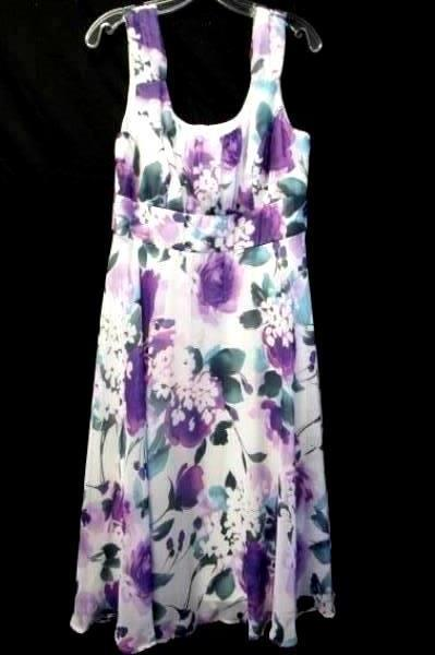 Women's Multi-Colored Floral Dress By Connected Apparel Size 12 100% Polyester