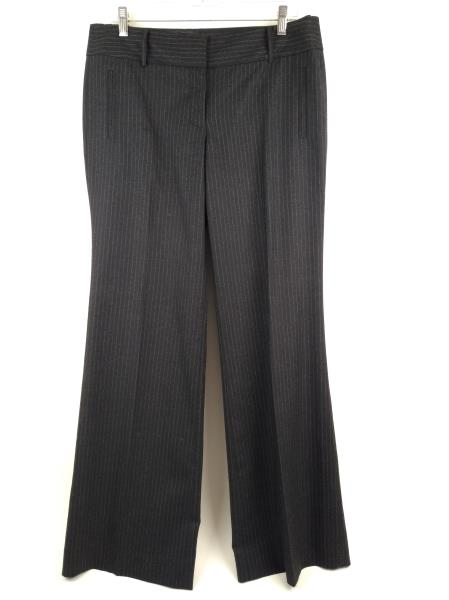 J.CREW Gray Striped Wool Blend CITY FIT Career Wide Dress Pants Size 10 NWT