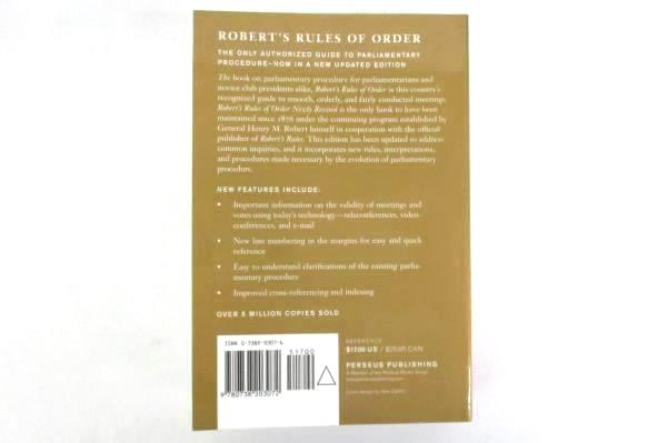 Robert's Rules of Order Newly Revised, 10th Edition 2000 Paperback