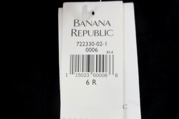 Banana Republic Stretch Women's Black Dress Pleat Pants Size 6R *WT*