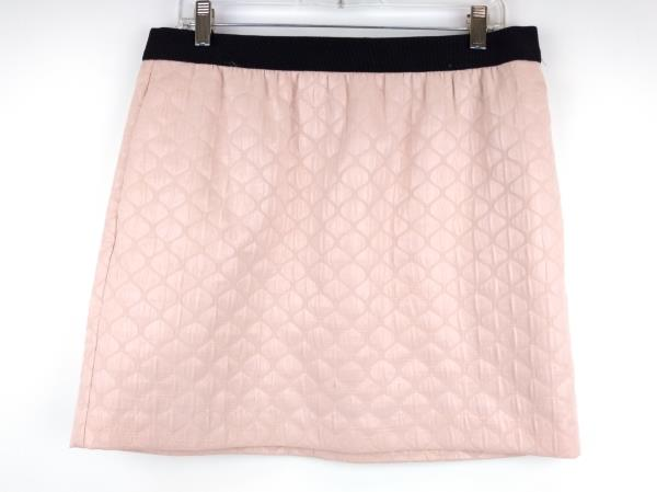 Ann Taylor LOFT Pink Metallic Jacquard Holiday Party Mini Skirt Sz 12P ~ NWT