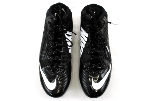 Men's Black & White Nike V Speed Football Cleats Size 11