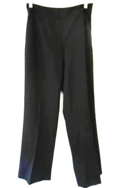 Women's Black Dress Pants Stretchy w/ Pockets Button Zipper By Talbot's Size 4