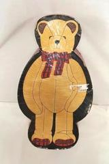 "Brown Lillian Vernon Jointed Plush Bear in Box Stuffed Animal 17.5"" Tall"