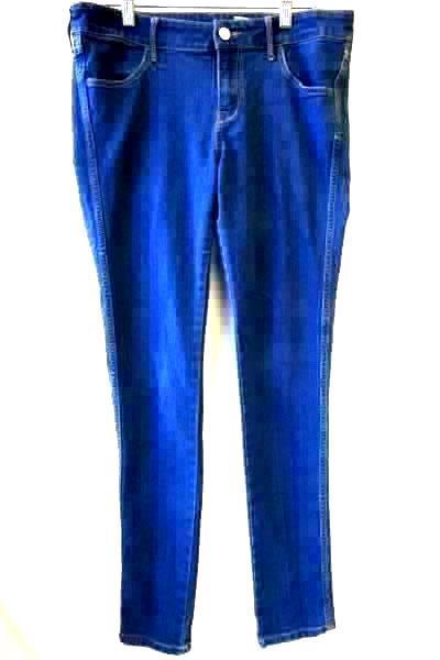 Women's Blue Jeans w/ Pockets Button Zipper Fly By H&M Size S