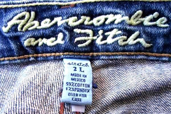 Abercrombie And Fitch Women's Blue Jeans Size 2L