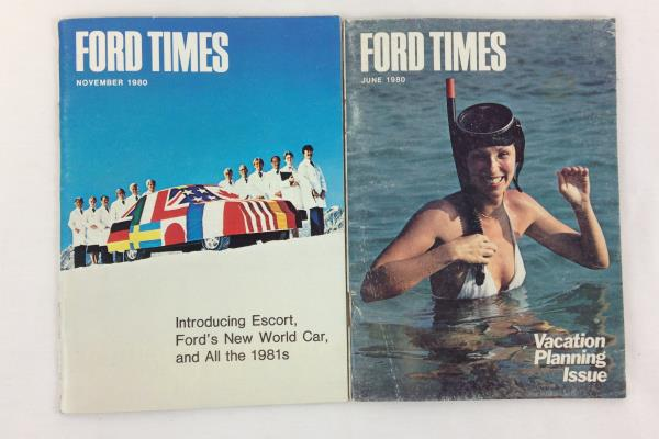 Lot 4 Ford Times Magazine Vintage 1980 Back Issues February March June November