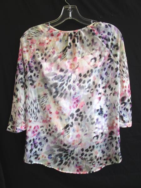 Apt.9 Women's Multi-Colored Cheetah Print Button Up Blouse Size PXS