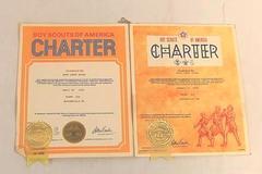 1976 & 1978 Boy Scouts Charter Certificate McMinnville OR Elks ClubTroop 233