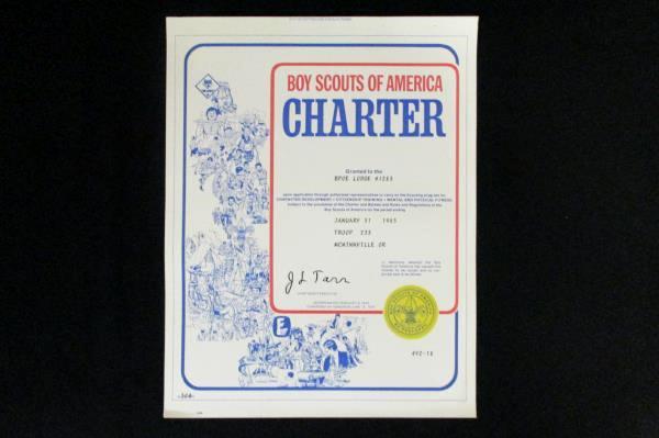 1981 & 1985 Boy Scouts Charter Certificate McMinnville OR Elks ClubTroop 233