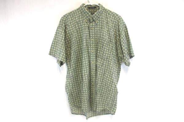 Chaps Ralph Lauren 100% Cotton Men's Button Up Short Sleeve Shirt Green Sz Large