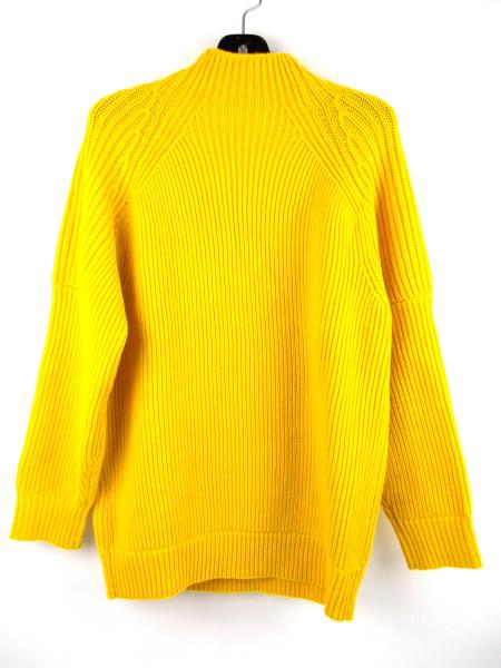 "VICTORIA BECKHAM 100% Wool ""Gauge Change Polo Neck Jumper"" Yellow Sweater Sz 2"