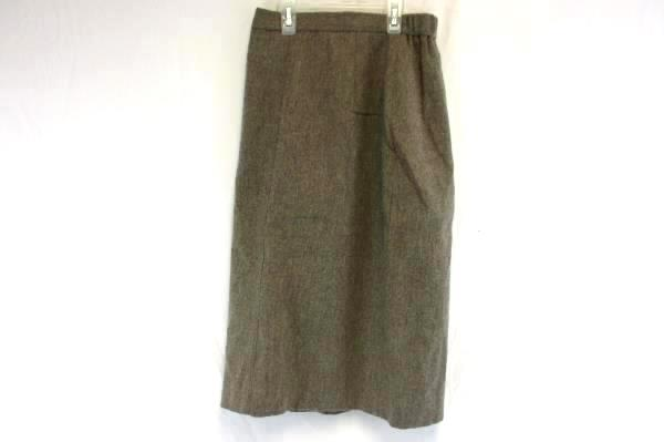 KORET CAREER PETITES 100% Wool Pencil Skirt Tan Size 8 Petite