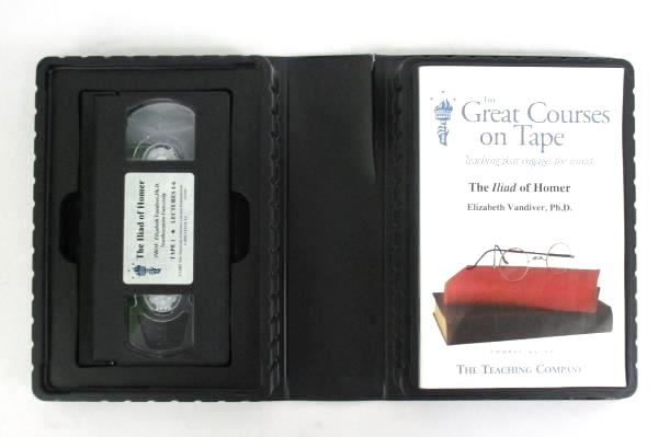 The Great Courses On Tape The Iliad Of Homer 2 VHS Tapes Guidebook 12 Lectures