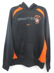Nike OSU Football Black Orange Thermal Fit Pullover Hooded Sweatshirt Youth XL