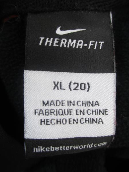 Nike OSU Football Black Orange Thermal Fit Pullover Hooded Sweatshirt Youth XL