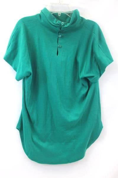 Lot of 2 Marie St Moritz Teal Green Shirts Tops Long Short Sleeve Women's Size M