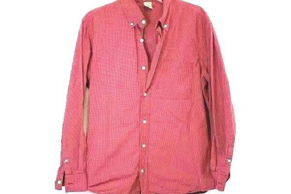 Lot of 2 Dockers Old Navy Men's Red Short Sleeves Button Up Shirts Size Large
