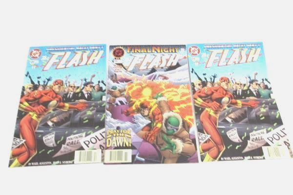 Lot of 3 DC The Flash Comic Books TWO MATCHING Softcover Nov and Dec 1996