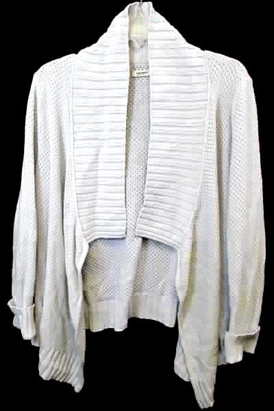 Cardigan Old Navy White Long Sleeve Knitted Cuffs Women's Size Large