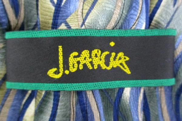 J. GARCIA Green Silk Neck Tie CAPILLARIES Collection Thirty-Five