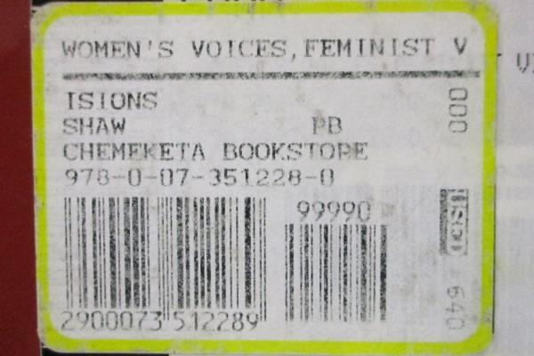 Women's Voices Feminist Visions 4th Ed. Susan Shaw USED Textbook Women's Studies