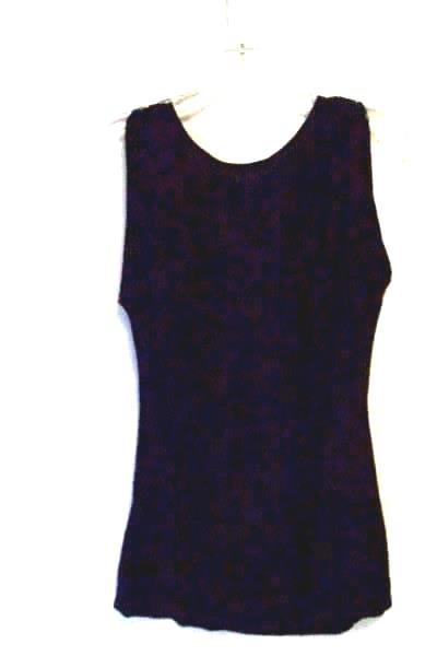 Women's Solid Black Sleeveless Top By Halogen Size S 95% Rayon