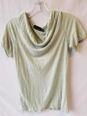 Girl's Green Short Sleeve Shirt Scoop Neck By The Limited Size M 100% Modal