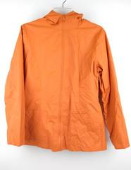 BLANC NOIR Orange PVC Raincoat Waterproof Zip Up Rain Jacket Women's M