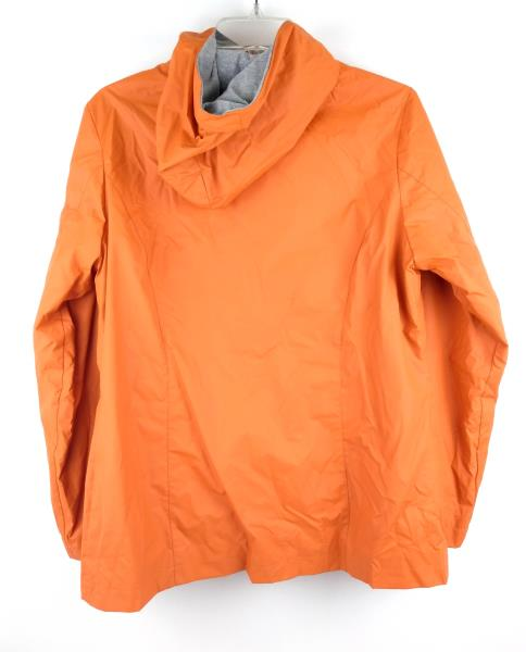 BLANC NOIR Orange PVC Raincoat Waterproof Zip Up Rain Jacket Women's M