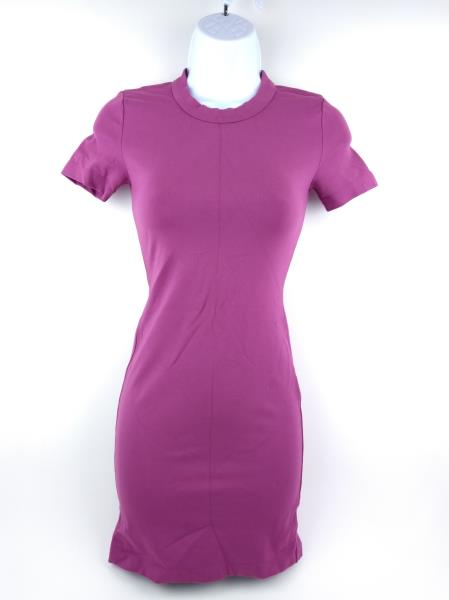 Aritzia SUNDAY BEST Purple Stretch Knit Bodycon T-Shirt Mini Dress Sz 00