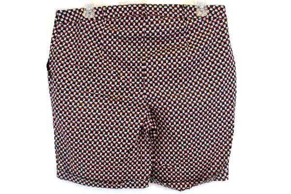 ASOS CURVE Woman's Geometric Pattern Flat Front Shorts Plus Size 16