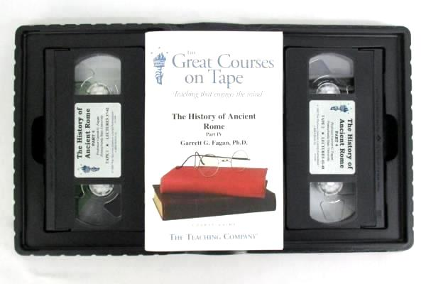 The Great Courses On Tape The History Of Ancient Rome Part 3 & 4  VHS