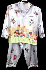 Lot of 2 Girl's Pajamas Set Top & Bottoms White Multi Color Cats & Mouse Size 9