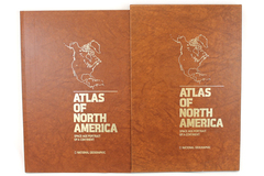 1985 National Geographic Illustrated Space Age Atlas Of North America