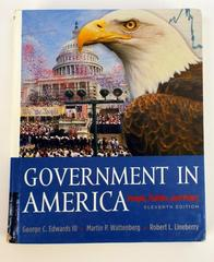 Government in America: People Politics Policy 2004 Wattenberg Lineberry Edwards