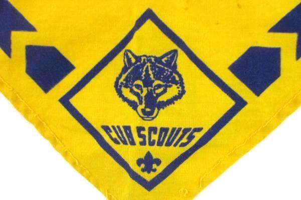 Boy Scouts Of America BSA Plaid Webelos Hat & Yellow Blue Neckerchief Bandana