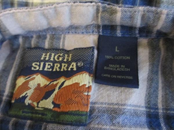 Junior Boys Multicolored Button Down Shirt By High Sierra Size Large 100% Cotton