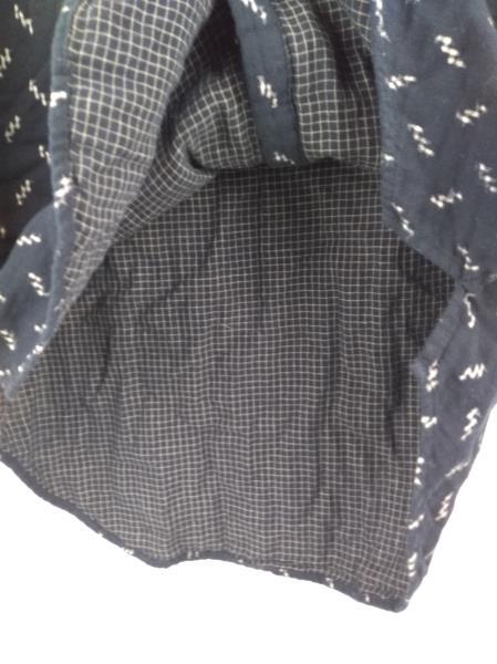 MADEWELL Black / Gold Ikat Print Oversized Ex-Boyfriend Shirt #G1066 ~ Sz XS