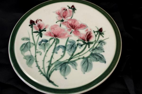 Decorative Stove Hot Plate Pad Hand Made By Cos White Green Pink Floral