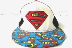 DC Comics Hat Snapback Black White Blue Red Superman 100% Cotton