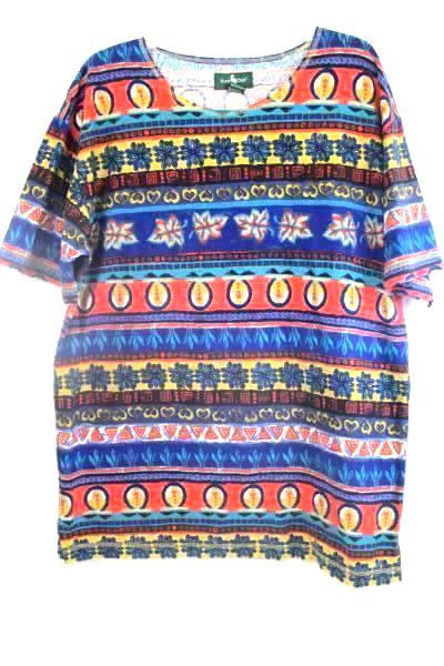 Shirt by Hunt Club Multicolored Abstract Geometric 100% Cotton Women's Size L