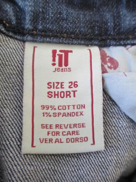 Jeans by !IT Blue Boot Cut Style w/ Pockets Women's Size 26 Short 4 Pockets