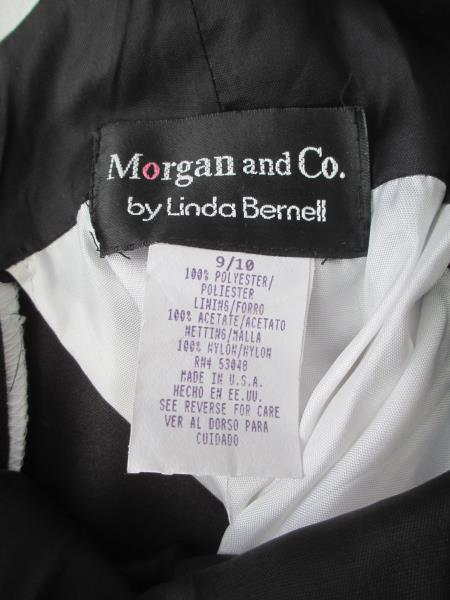 Woman's Black&White Formal Dress By Morgan And Co Size 9/10 100% Polyester