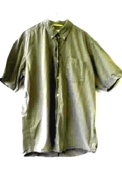 Men's Green Short Sleeve Button Up Shirt w/ Collar By Camel Active Size XL