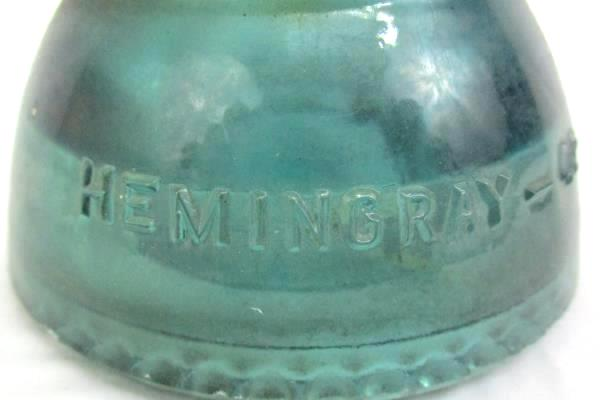 Vintage Hemmingray 42 Glass Insulator Blue DIY Project Paper Weight