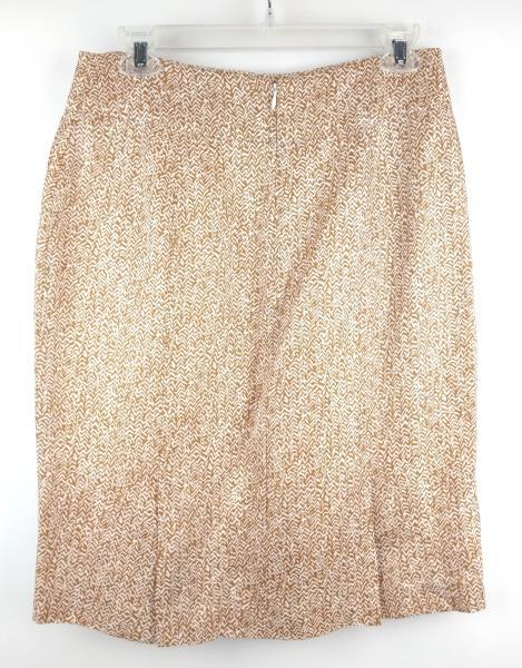 BANANA REPUBLIC Beige Career Pencil Skirt Rayon Linen Blend Sz 6 NWT $89.50